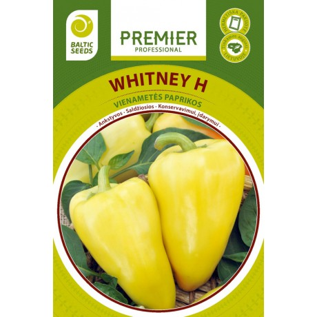 WHITNEY H, saldžiosios paprikos, 15 sėklų