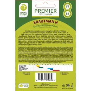 KRAUTMAN H, baltieji gūžiniai kopūstai, 45 sėklos