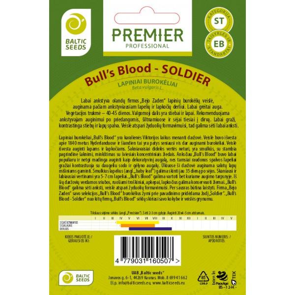 SOLDIER - Bull's Blood, lapiniai burokėliai, 200 sėklų